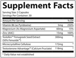 everlasting t supplement facts